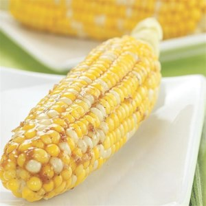 Lemon-Garlic Glazed Corn on the Cob