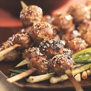 Japanese Chicken Meatballs (Tsukune)