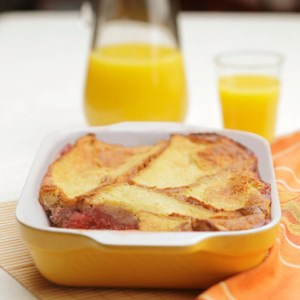 Breakfast Fruit Bread Pudding