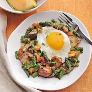 Potato, Asparagus & Mushroom Hash