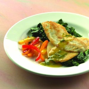 Sauteed Haddock with Orange-Shallot Sauce