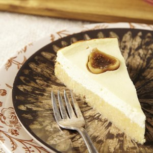 Lemon & Polenta Tart with Figs