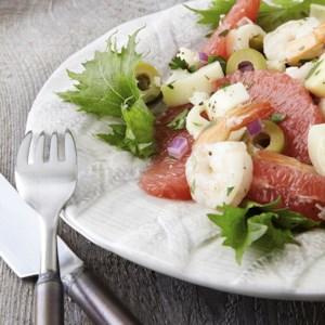 Grapefruit, Hearts of Palm & Shrimp Salad