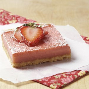 Strawberry-Rhubarb Squares