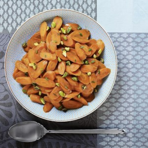 Pomegranate Molasses-Glazed Carrots with Pistachios