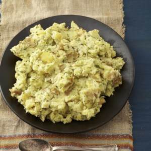 Horseradish, Parsley & Sour Cream Mashed Potatoes