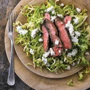 Flat-Iron Steak Salad with Mustard-Anchovy Dressing
