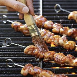 Chicken Kebabs with Thai Chile-Plum Glaze