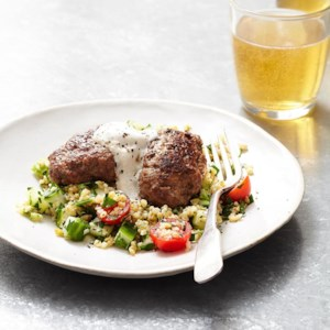 Freekeh Tabbouleh with Spiced Lamb Kofta