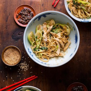 Dan Dan Noodles with Chicken & Baby Bok Choy
