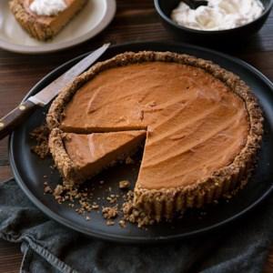 Pumpkin Tart with Pecan-Shortbread Crust