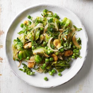 Warm Fava Bean & Escarole Salad (Scafata)