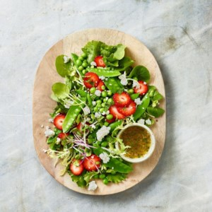 Spring Pea Salad with Strawberries