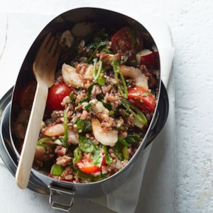 Shrimp & Vegetable Red Rice Salad