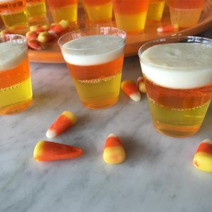halloween candy corn jell or shots