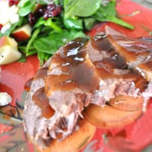 Slow Cooker Apple-Scented Venison Roast
