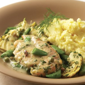 Chicken with Sugar Snap Peas & Spring Herbs