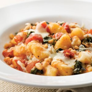 Skillet Gnocchi with Chard & White Beans