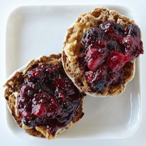 Peanut Butter & Chia Berry Jam English Muffin