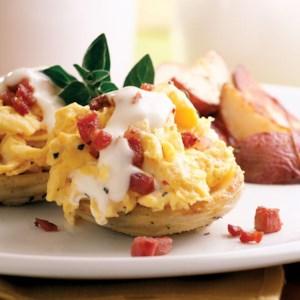 Artichoke-Scrambled Eggs Benedict