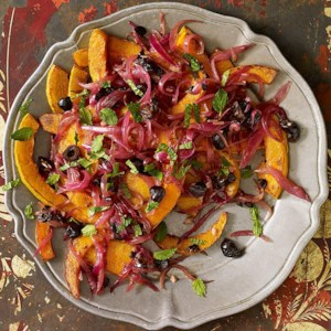 Fried Winter Squash with Black Olives
