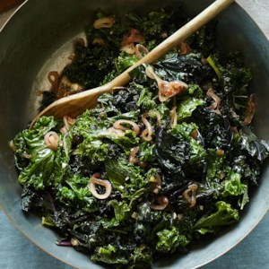Wilted Kale with Warm Shallot Dressing