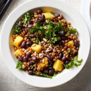 Black Bean, Mango & Kale Wheat Berry Salad