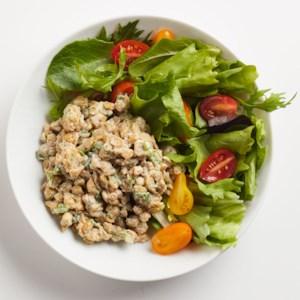 """Tempeh """"Chicken"""" Salad"""