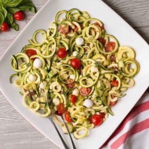 Tomato-Basil Zoodle Salad