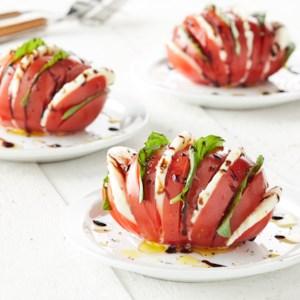 Hasselback Tomato Caprese Salad