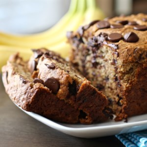 Banana Chocolate Chip Bread Recipe and Video - Very ripe bananas keep this quick bread sweet and moist.