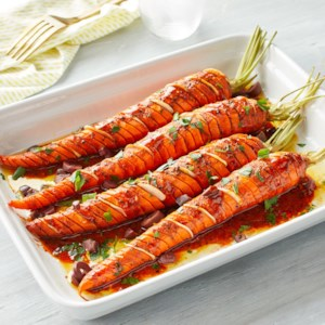 Hasselback Moroccan Roasted Carrots