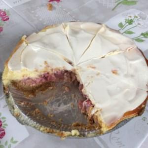 Creamy Rhubarb Cheesecake