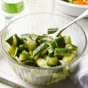 Smashed Cucumber Salad with Lemon & Cumin