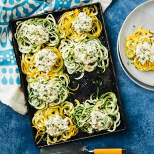 Spiralized Zucchini & Summer Squash Casserole