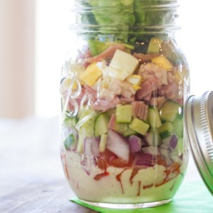 Classic Cobb Mason Jar Salad