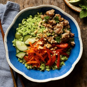 "Vietnamese Pork & Broccoli ""Rice"" Bowls"