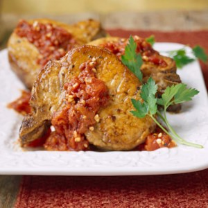Pork Chops with Herb-Tomato Sauce