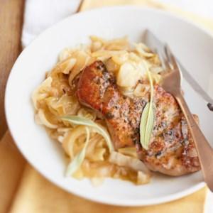 Sage-Scented Pork Chops
