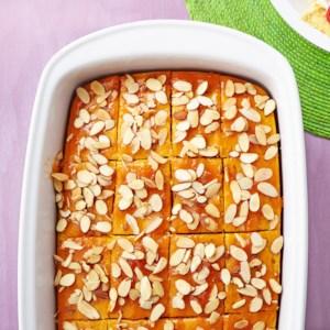 Apricot-Ginger Glazed Pumpkin Snack Cake