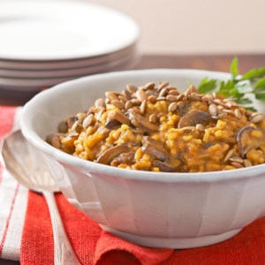 Curried Pumpkin and Mushroom Risotto