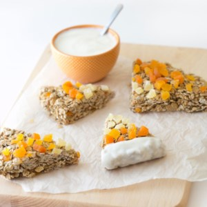 Candy Corn Granola Bars