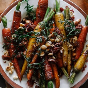 Roasted Carrots with Calimyrna Fig Dressing
