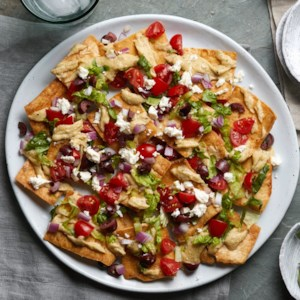 Greek Salad Nachos