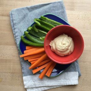 Peppers & Carrots with Hummus