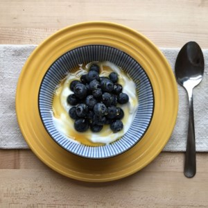 Yogurt with Blueberries & Honey