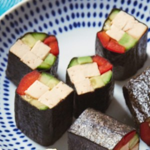 Smoked Tofu & Vegetable Sushi Roll