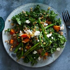 Farro, Kale & Squash Salad