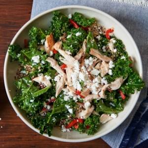 Greek Kale Salad with Quinoa & Chicken