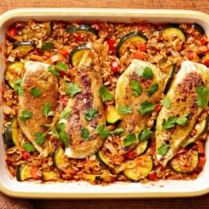 Tandoori Spiced Chicken and Rice Bake